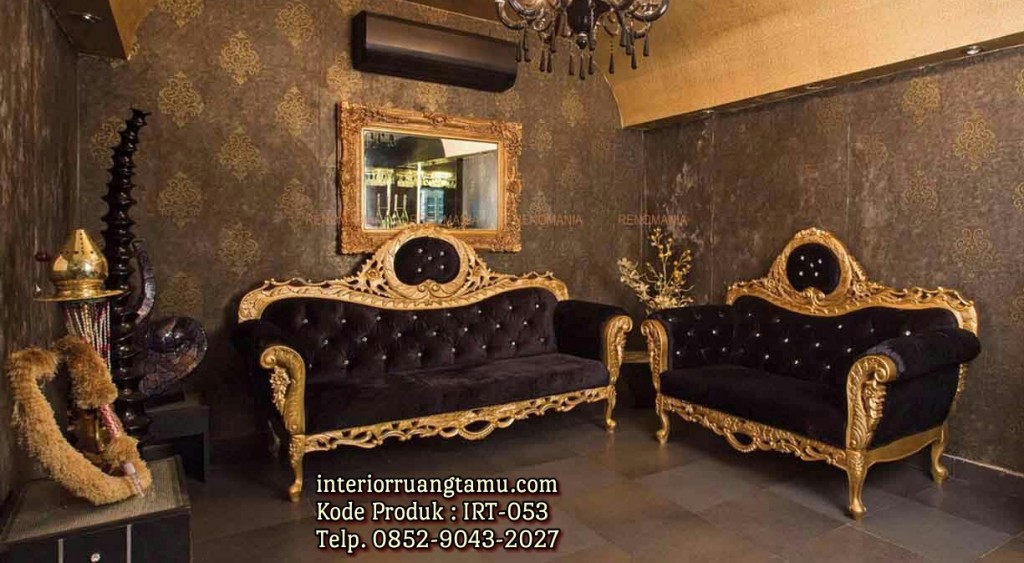 Set Ruang Tamu Ukiran Mewah Gold Furnishing